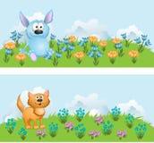 Animation small animals Stock Photos