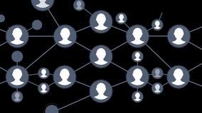 Animation sociale de réseau pour l'usage dans les présentations, les manuels, la conception, etc. Boucle sans couture de réseau B illustration stock