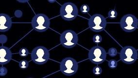 Animation sociale de réseau pour l'usage dans les présentations, les manuels, la conception, etc. Boucle sans couture de réseau B illustration libre de droits