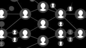 Animation sociale de réseau pour l'usage dans les présentations, les manuels, la conception, etc. Boucle sans couture de réseau B illustration de vecteur