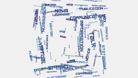 Animation sociale de typographie des textes de nuage de mot de concept de communication d'Internet de media Photos stock