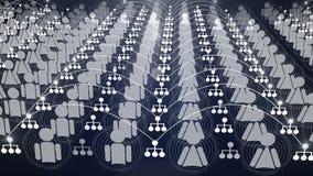 Animation sociale 4K de connexion réseau