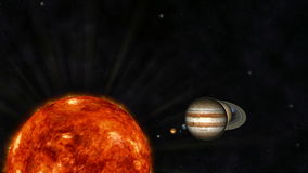 Animation of the Solar System. 3D Animation of the Solar System stock video