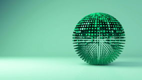 Animation of sphere geometric background - transformation, transition. Animation of geometric sphere - transformation, transition. 3d motion graphics background stock video footage