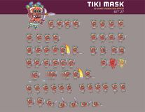 Animation Sprite de Tiki Mask Cartoon Game Character Image libre de droits