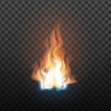 Animation Stage Of Burning Orange Fire Vector. Fiery Heat Overlay Brush And Bonfire Burning Flare Design Decoration Closeup Isolated On Transparency Grid royalty free illustration