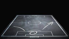 Animation of strategic scheme of soccer game on board. Tactical strategic scheme of soccer game on board stock illustration