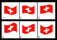 Animation Swiss flag Royalty Free Stock Photography