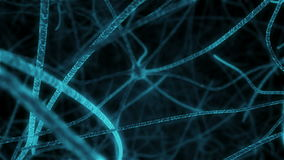Animation of Synapses in neuronal tissue human