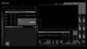 Animation of a tech interface stock video footage