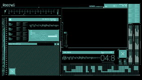 Animation of a tech interface stock video