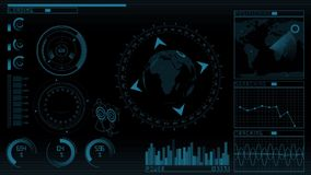 Animation technology screen GUI stock illustration