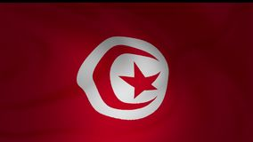 Animation of an Tunisia and Tobago flag closeup. Collection stock footage