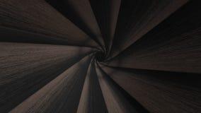 Animation of tunnel like gun barrel. Gun barrel rotate 3D rendering stock illustration