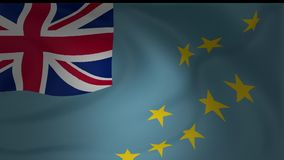 Animation of an Tuvalu flag closeup. Collection stock footage