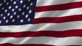 Animation of an U.S. flag waving. Patriotism and national flag
