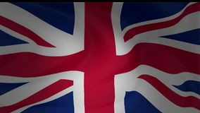 Animation of United Kingdom national flag waving. Collection stock video footage