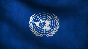 Animation of United Nations flag at wind. Animation of United Nations at wind stock video footage