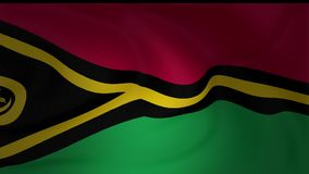 Animation of Vanuatu national flag waving. Collection stock video