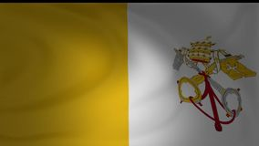 Animation of Vatican City national flag waving. Collection stock video