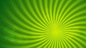 Animation visuelle abstraite lumineuse verte