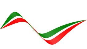 Animation von Flagge italym oder Iran oder Mexiko stock abbildung