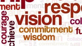 Animation von in Verbindung stehenden Wörtern der Führung stock abbildung