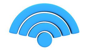 Animation of Wireless Network Symbol rotate Stock Photos