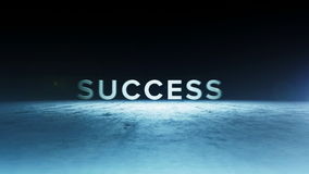 Animation of the word success Royalty Free Stock Image