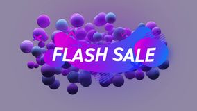 Flash sale graphic with abstract shapes