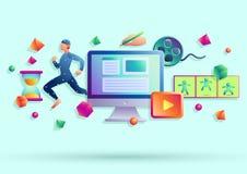 Animations-Illustration Stockfotos