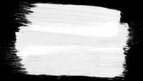 Animationsschmutz - bürsten Sie Anschlag auf einem weißen Hintergrund Abstraktes handgemaltes Element Schmutzbürste streicht Anim Lizenzfreie Stockfotografie