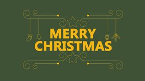 Animationsverzierung Weihnachten- und frohe Weihnachten typhography vektor abbildung