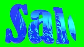 ` Animato di vendita del ` dell'iscrizione su un fondo verde archivi video