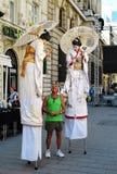 Animatorzy w Bucharest Starym miasteczku Obraz Royalty Free