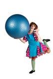 Animatrice Ball de fille photographie stock