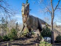 Animatronic恐龙展览 免版税图库摄影