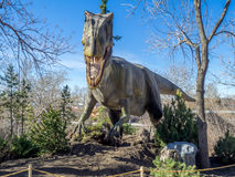 Animatronic Dinosaurs exhibit Royalty Free Stock Photography