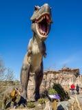 Animatronic Dinosaurs exhibit Stock Images