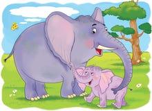 animaux africains Illustration pour des enfants Photos stock