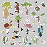 Animaux africains mignons illustration stock