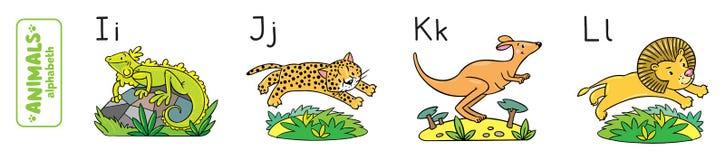 Animaux alphabet ou ABC illustration stock