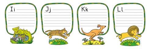 Animaux alphabet ou ABC illustration de vecteur