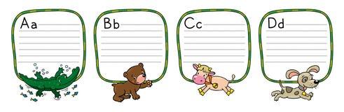 Animaux alphabet ou ABC Image stock