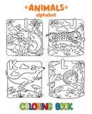 Animaux alphabet ou ABC Livre de coloration illustration de vecteur