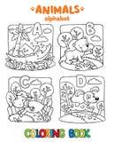 Animaux alphabet ou ABC Livre de coloration Photos libres de droits