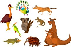 Animaux australiens illustration libre de droits