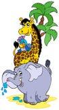 Animaux d'Africain de dessin animé Image libre de droits