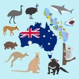 Animaux d'Australie illustration stock