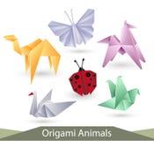 Animaux d'Origami Images libres de droits